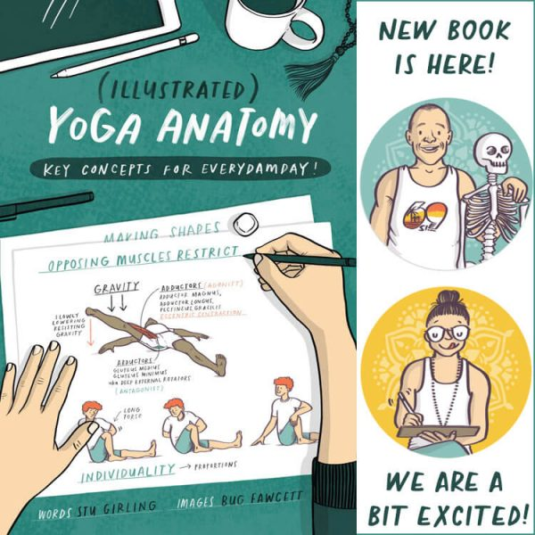 illustrated yoga anatomy book