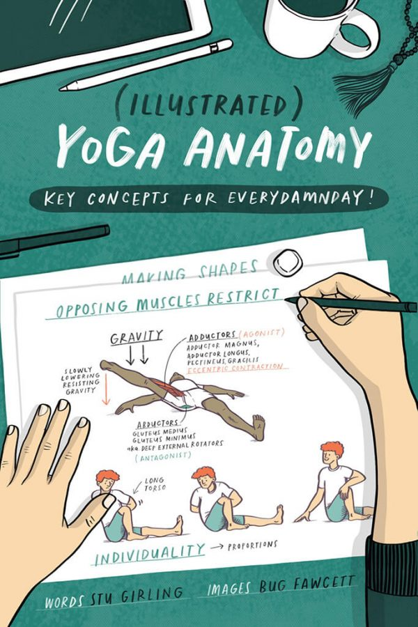 Illustrated Yoga Anatomy Book by Stu Girling