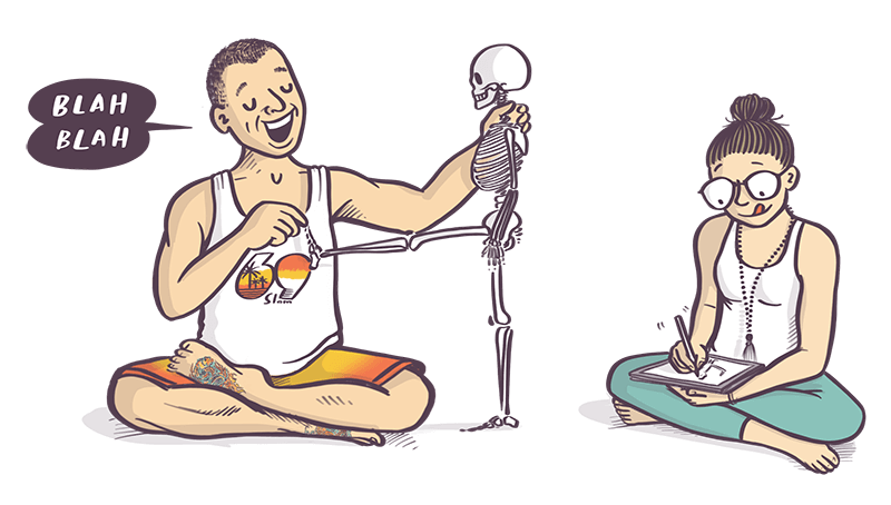 stu teaching yoga anatomy